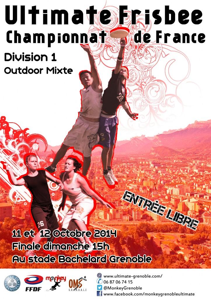 affiche D1 mixte 2014